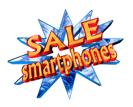Text sale with the categories of goods on a white background Stock Photo