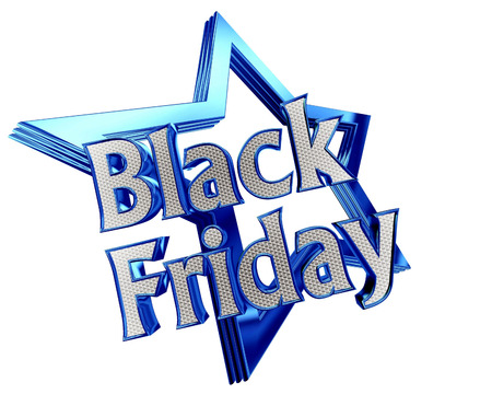 percentage: Blue Star Black Friday with the text on a white background