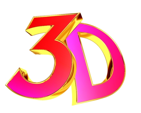 3d illustration. 3d text on a white background