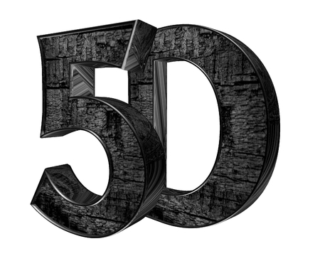3d illustration. 5d text on a white background