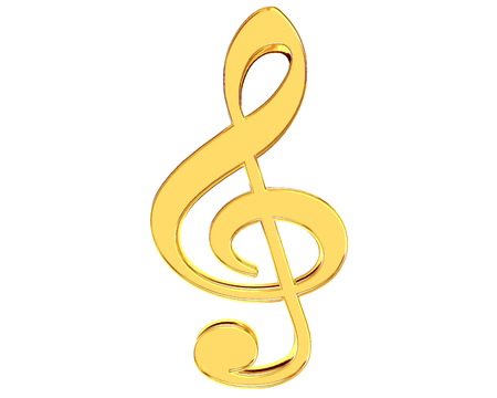 octaves: Symbol Gold notes on a white background Stock Photo