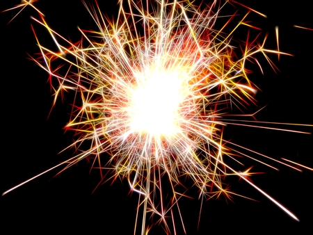 bengal fire: Image of New Year Bengal lights in neon light Stock Photo