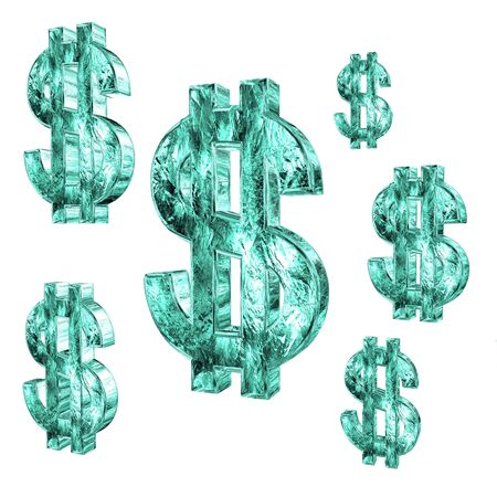Dollar sign on white background Stock Photo