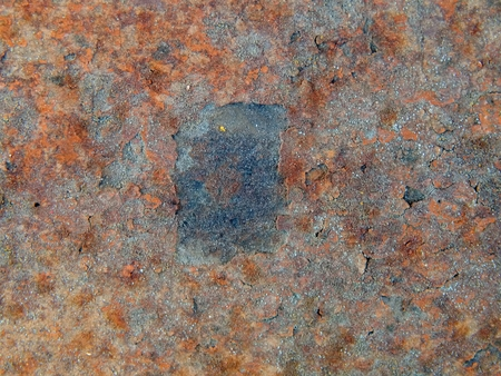 corrosion: The texture of the surface of rusty iron with shabby paint