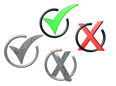 Two signs are positive and negative on a white background