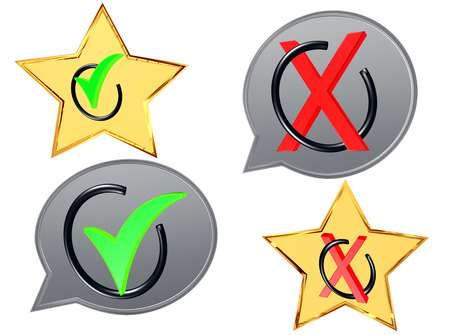 3d rendering. Two signs are positive and negative on a white background
