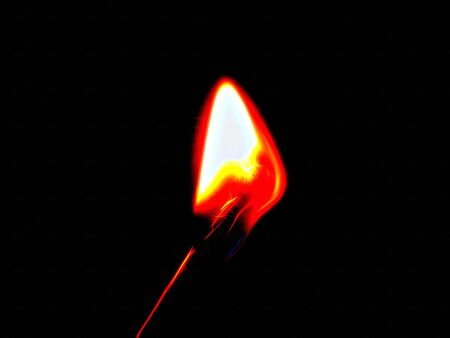 flare up: Fire on a close-up match