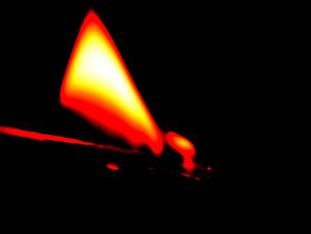 Fire on a close-up match