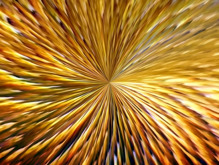 3d rendering. Abstract image of multicolored lines of rays in space