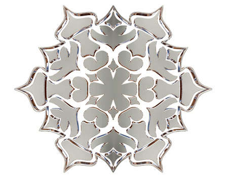 3d rendering. New Years snowflake close-up Stock Photo