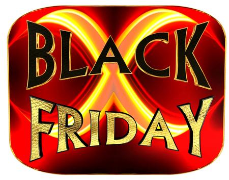 Illustration of text black Friday