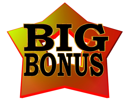 Illustration of text big bonus Фото со стока