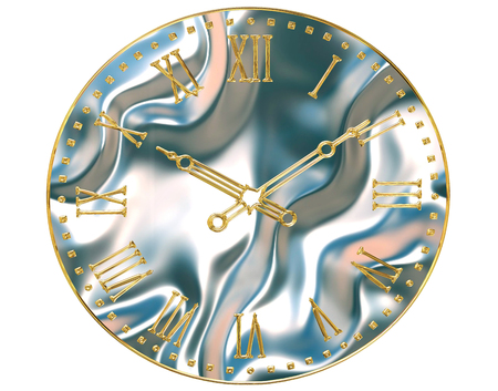 3d rendering. Clock face on white background