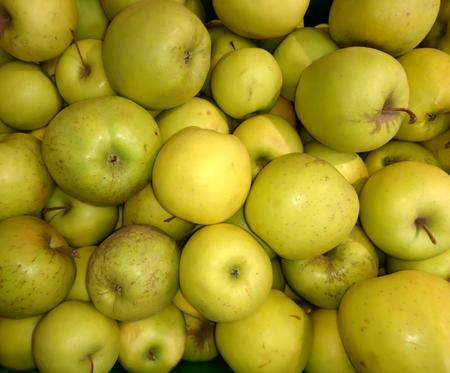 Fresh green apples close-up Stock fotó