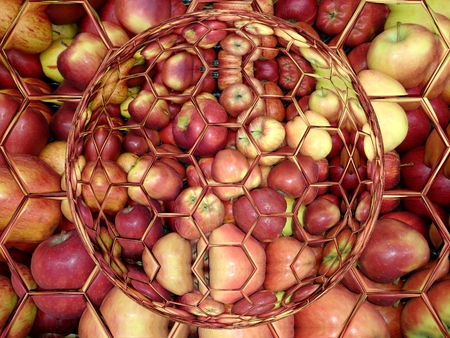Illustration of abstract background from apples