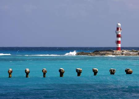 Caribbean CandyCane Lighthouse