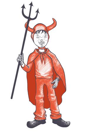 devil costume for kids photo