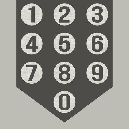 web 2 0: Numbers set. Vector. Illustration
