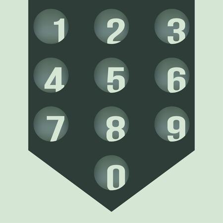 numbers: Numbers set.  Illustration