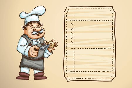 specialities: Illustration of cooking concept.