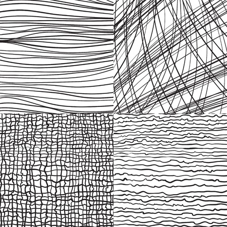 wickerwork: Abstract vector backgrounds set with lines