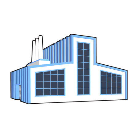 power projection: Factory icon.