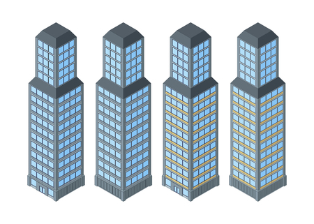 skyscrapers: Illustration of urban skyscrapers.