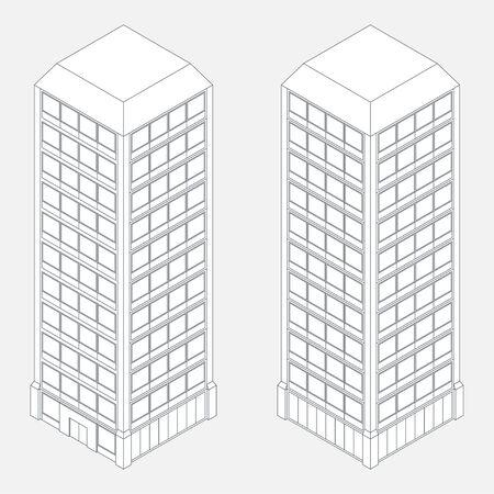 небоскребы: Иллюстрация городских небоскребов.