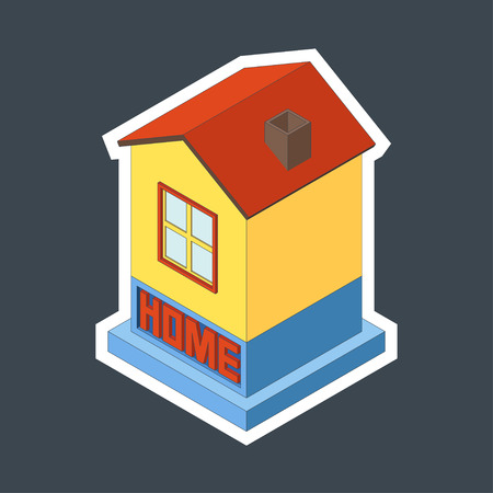 home concept: Vector illustration of dwelling house. Home concept.