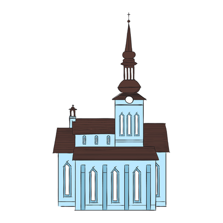 landlord: Illustration of old building in  European city. Illustration