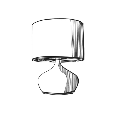 Vector illustration of the table lamp.