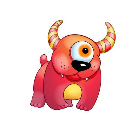 Vector monster illustration. Ilustração