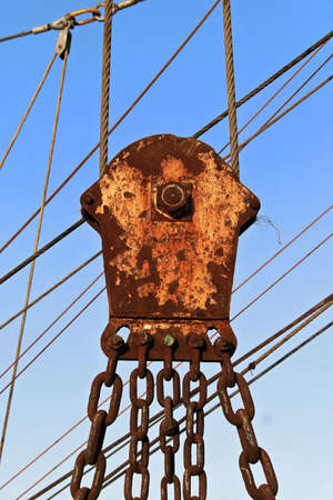 rusty pulley photo