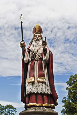 nicolas: Statue of Saint Nicolas against beautiful sky