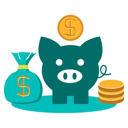 financial adviser: money concept design, vector illustration Illustration