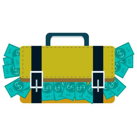 millions: Suitcase full of money Illustration