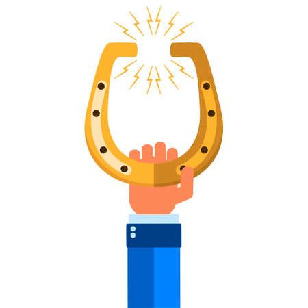 golden horseshoe: Golden horseshoe. Illustration on white background for design Illustration