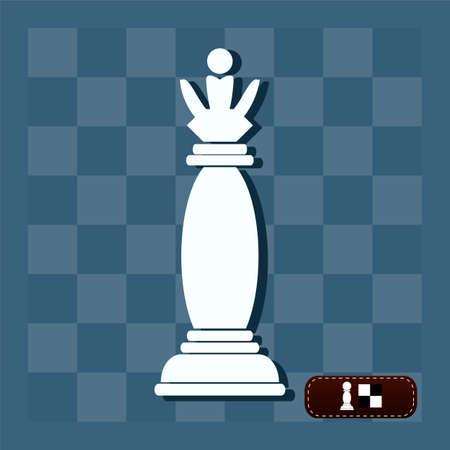 battlefield: Vector picture of chess. Queen on the battlefield Illustration