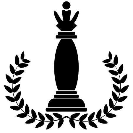 depicting: coat of arms depicting a Chess Queen Illustration