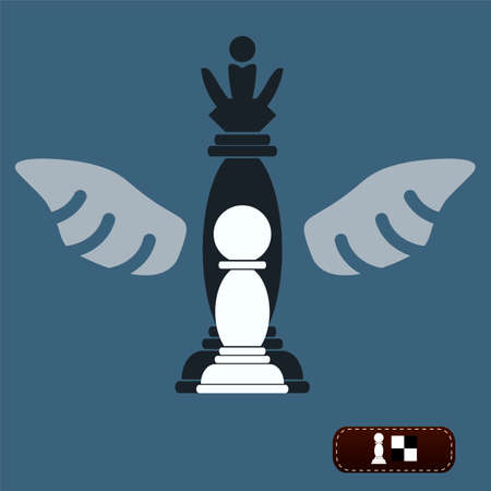 become: Chess pawn dream to become a queen, wings