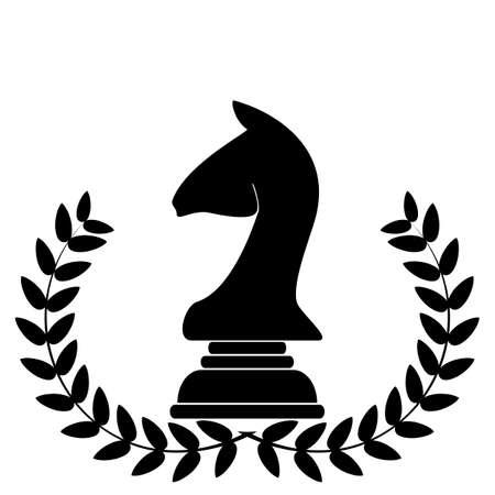 chess knight: escudo de armas representa a un caballo de ajedrez