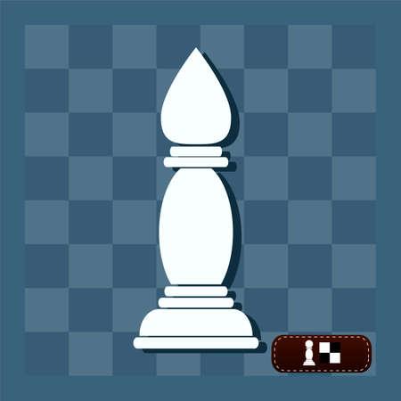 bishop: white  bishop chess piece