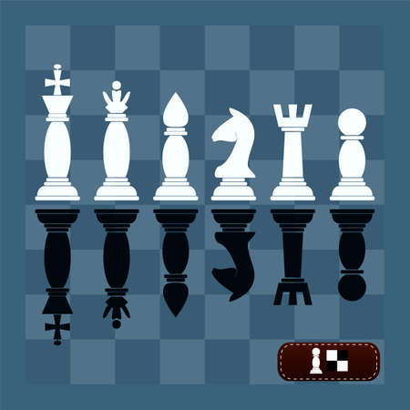 chess piece: Complete set of vector silhouettes chess pieces