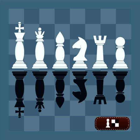 caballo de ajedrez: Juego completo de siluetas vector piezas de ajedrez Vectores
