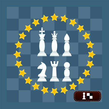 named person: Chess vector icons. Stars. chess board illustration. Illustration