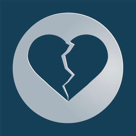 corazones: broken heart icon, symbol, vector illustration
