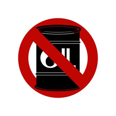 No, Ban or Stop signs.  Oil drop symbol. 矢量图像