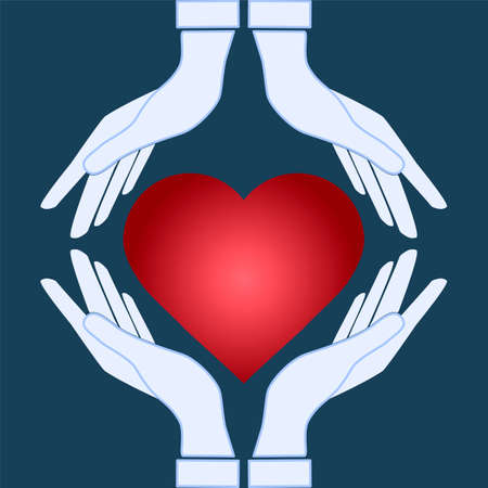 Vector icon - hands holding heart Vector