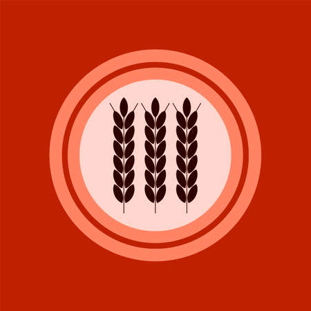 agribusiness: wheat ears, agribusiness, agrobusiness. Plate concept. Illustration