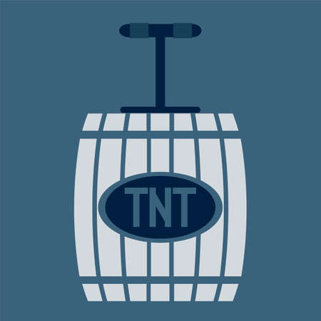 wooden barrel: wooden barrel Bomb with TNT sign
